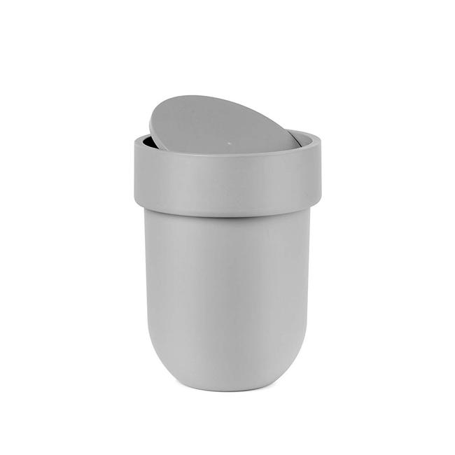 tacho-de-basura-touch-para-bano-gris