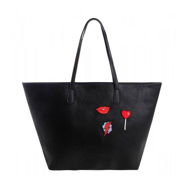 Pieces-Bolso-Shopper-Brooke-Negro-17085682