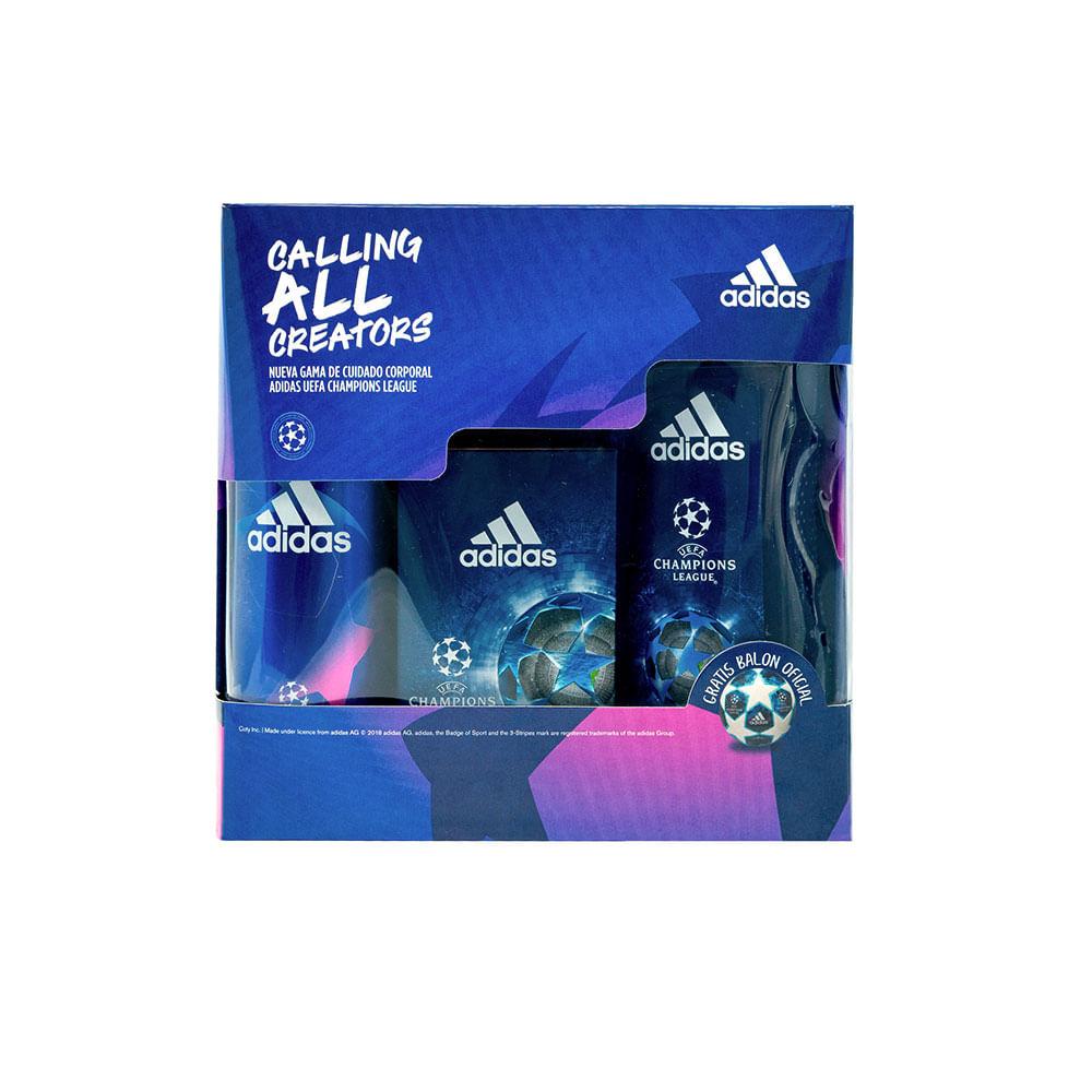 letal dividir evidencia  Adidas Estuche UEFA Champions League IV Edition (4 un) - Unity Stores