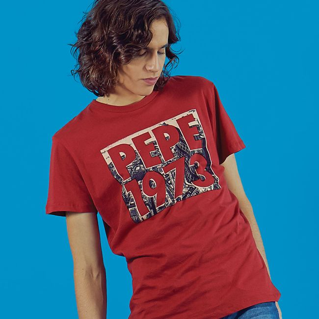 pepe-jeans-camiseta-groot-roja