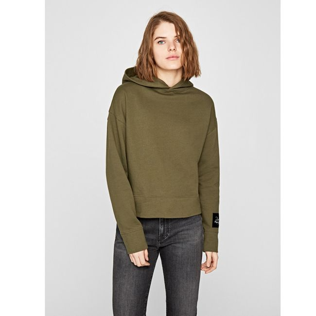 Sweatshirt-Dua-Lipa-Telma-Khaki-Green-PL580907765
