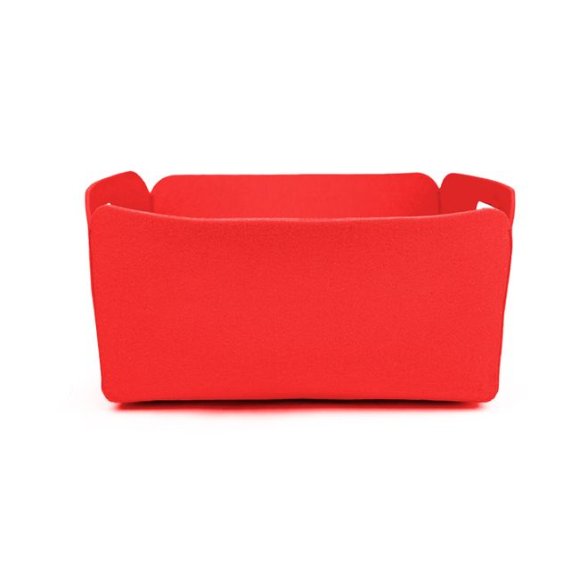 Rectangle-Holdall-Basket-Poly-Felt-Red