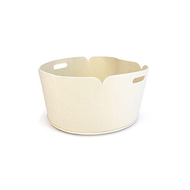 round-holdall-basket-poly-felt-grey