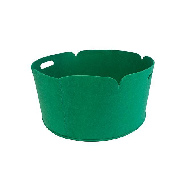 round-holdall-basket-poly-felt-green