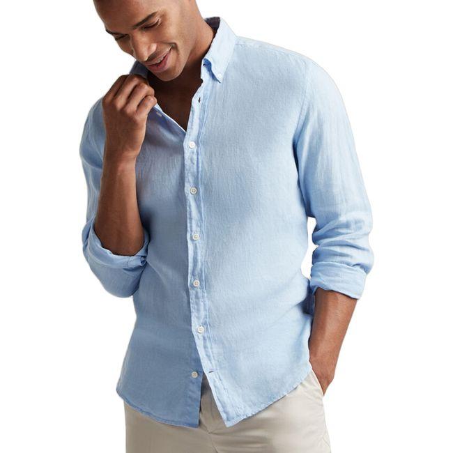 hackett-camisa-de-lino-celeste-hm308175513-1
