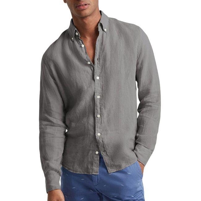 hackett-camisa-de-lino-gris-hm3081759kv