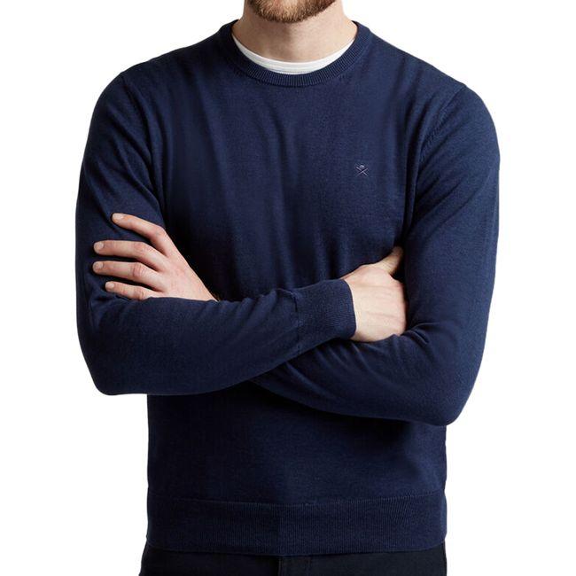 hackett-jersey-de-algodon-y-seda-azul-marino-hm702468595-1