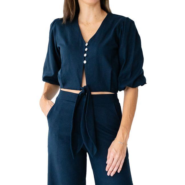 malala-blusa-de-lino-azul-manga-LM0606-1